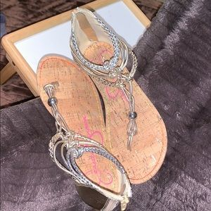 Silver and gold Jessica Simpson sandals